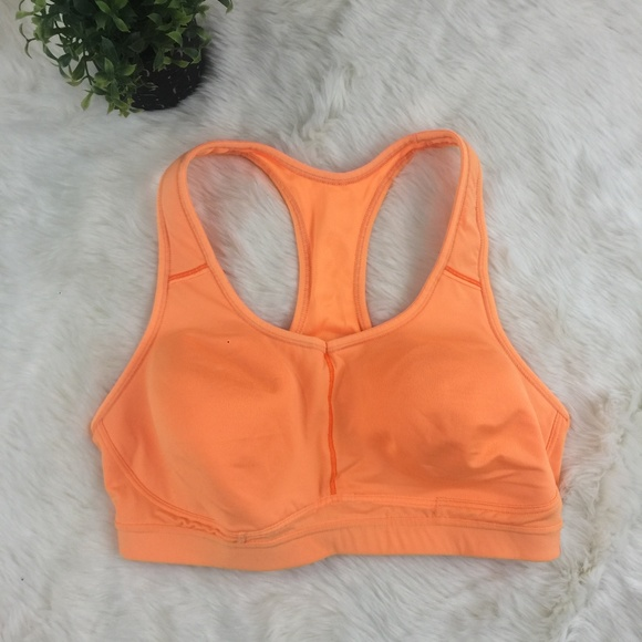 3aecc0a1d3 Athleta Hullabraloo sports Bra in bright orange
